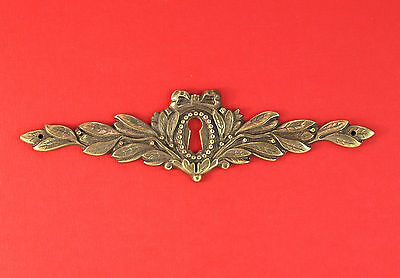 Cast Brass Neoclassical Style Furniture Keyhole Escutcheon #4583000 *MORE AVAIL