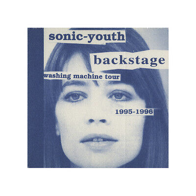 Sonic Youth authentic Backstage 1995-1996 tour Backstage Pass