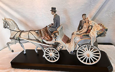 Authentic Lladro Bridal Carriage Porcelain Sculpture