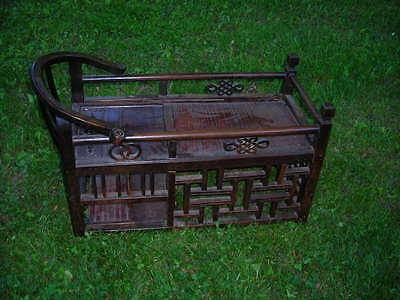 Rare Antique 19Th C. Chinese Table Or Baby Crib Or Whatever. 36X22X19