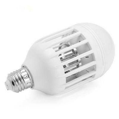 LED Insect Zappers Light Bulb E27 15W Anti-Mosquito Insects Moths Killer AD