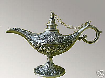 Collection Retro Decoration Handicrafts aladdin silvering genie oil lamp