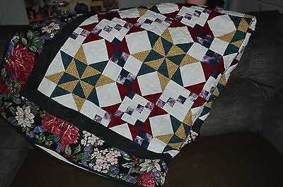 "2012 BEAUTIFUL HANDMADE FINISHED QUILT CALLED MYSTERY QUILT 70"" X 68"" ""reduced"""