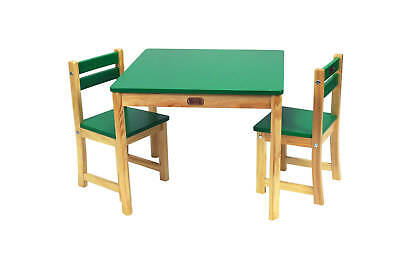 Children's Table & Chairs Square Table and 2 Chair Set Green CLEARANCE