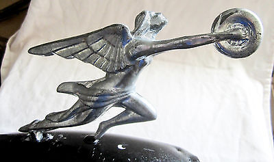 Packard 1930's re-issue auto car hood ornament mascot sanded aluminum finish USA