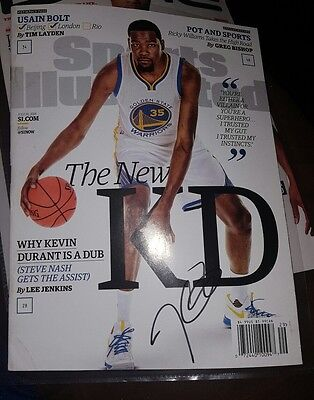Kevin Durant autographed Sports Illustrated magazine