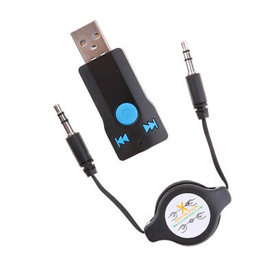 Car Bluetooth Wireless Stereo Audio Music USB AUX Receiver Adapter Dongle