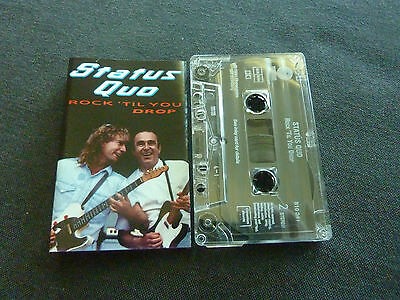Status Quo Rock Till You Drop Ultra Rare Cassette Tape!