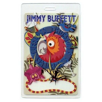Jimmy Buffett 2000 Laminated Backstage Pass Tuesdays Thursdays Saturdays Tour