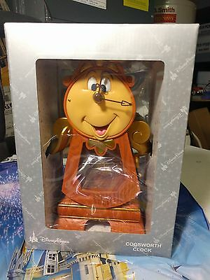 "Disney Parks COGSWORTH CLOCK Beauty and the Beast Working 10"" Clock GENUINE"