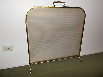 VINTAGE SOLID BRASS FIRE SCREEN 775 WIDE x 800 HIGH