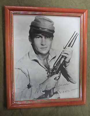 #ss. Framed  Tv  Cowboy  Picture - Nick Adams As The Rebel