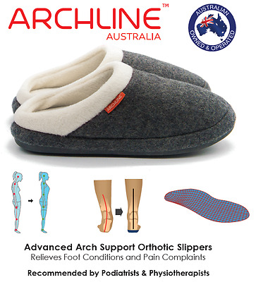 ARCHLINE™ Orthotic Slippers (Open) - Foot Pain Plantar Fasciitis Relief Slippers