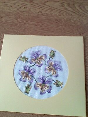 completed cross stitch mothersday/birthday card