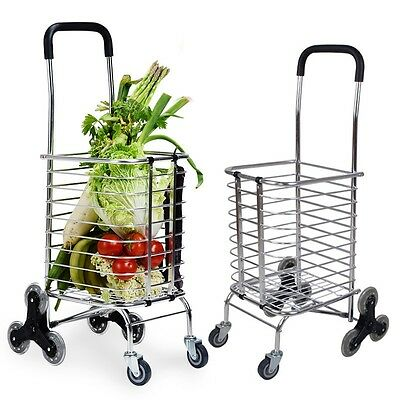 Chic Shopping Trolley Stair Step Climbing Push Cart Grocery Storage Bag Basket