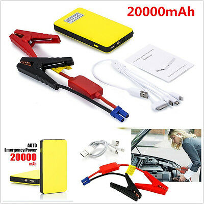 12V Portable Car Jump Starter 20000mAh Autos Battery Booster Charger Power Bank