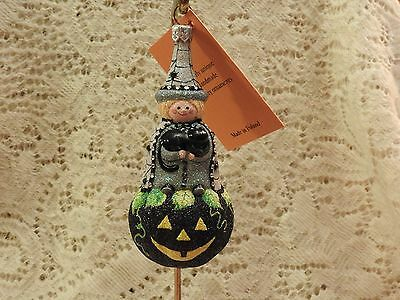 Patricia Breen Halloween Witch Pumpkin With Black Cat