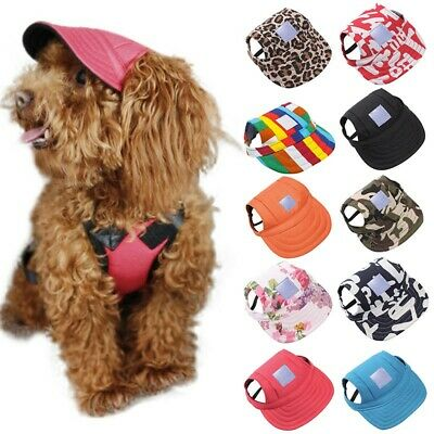Cute Pet Dog Puppy Baseball Visor Hat Peaked Cap Sunbonnet Puppy Hat Summer S M