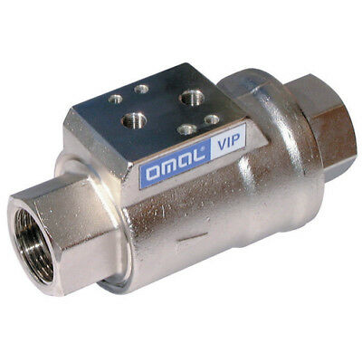 """VNC20007, 1.1/4""""BSP SINGLE ACT NC AXIAL FLOW VALVE, Omal & Valpes Actuated Valve"""