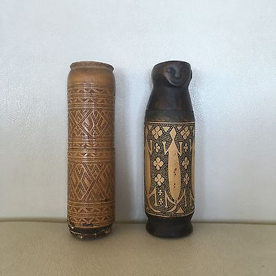 Antique Hand Carved Tribal Betel Nut Containers