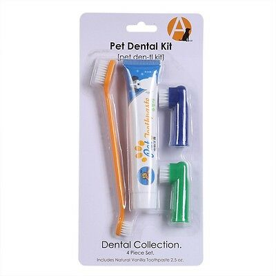 New Pet Dog Cat Cleaning Toothpaste+Toothbrush+Back Up Brush Set Chicken Flavour