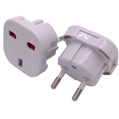 UK To EU Euro Europe European Travel LADEGERÄT Adaptor Plug 2in1 Adapter Stecker