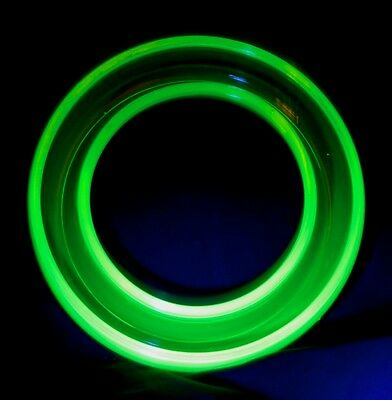 Vintage Uranium Glass Float Vase - 15cm -  Posy Ring Vase