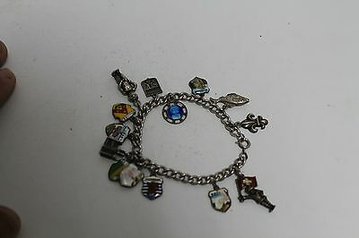 Antique Authentic Hand Made Charming Silver Coins Woman Chain Bracelet