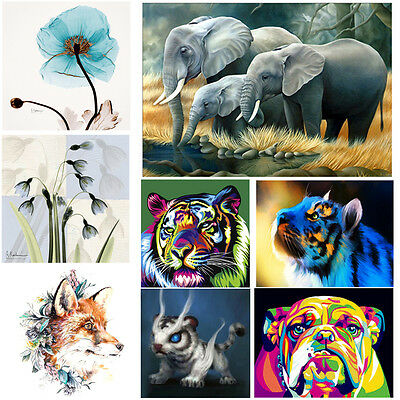 5D DIY Diamond Painting Dog Angel Tiger Animal Embroider Cross Stitch Home Decor