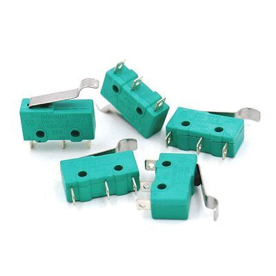 Baomain 5pcs AC 125V 5A Hinge Lever Micro Limit Switch KW4-3Z-3 for Mill CNC