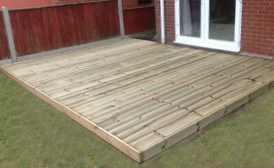 3.6m wide x 4.8m Decking Kit Timber boards Garden  Free local Delivery Available