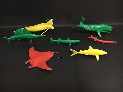Cereal Toy Lot Of U.s Deep Sea Large Toys Inc: Shark, Whale, Manta Ray Etc