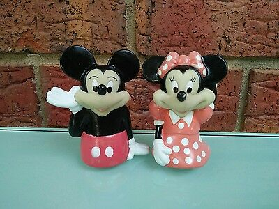 Mickey and Minnie Mouse Vintage Disney Finger Puppet Toys Collectable Characters