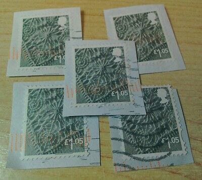 2016 £1.05 N.Ireland machin  x5 GU/ FU stamps on paper per scan
