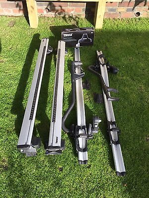 Thule Roof Rack rapid system with wing bars and pro ride bike holders