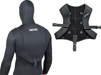 SEAC - Smooth Skin Weight Vest - Max 6 Kg of Weights - Freediving Spearfishing