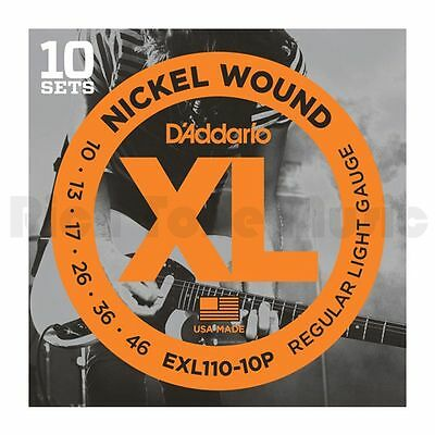 D'Addario EXL110-10P 10 Pack - XL Regular Light 10-46