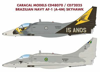 "Caracal Models 1/72 Brazilian Navy AF-1 (A-4M) Skyhawk ""15 Years"" # 72025"