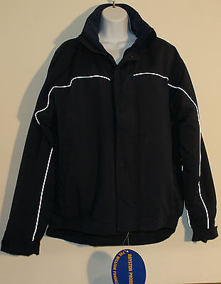 Horse Riding Hacking Jacket Dark Blue with Reflective Stripe