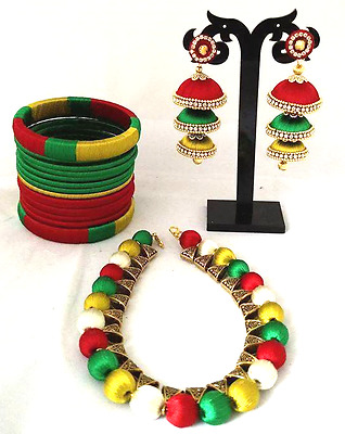 Ethnic indian Jewelry, Bollywood style Necklace set for wedding, party