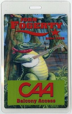 John Fogerty authentic 2004 concert tour Laminated Backstage Pass CAA balcony
