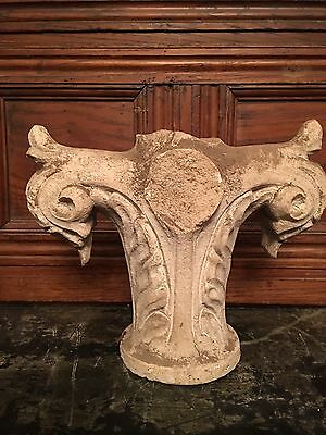 19thcentury Lime Stone Caved Finial