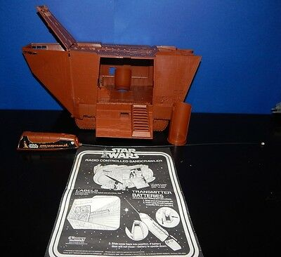 Vintage Star Wars Remote Control Jawa Sandcrawler Complete in nice condition