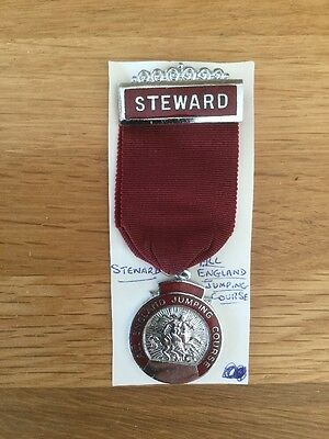 HICKSTEAD Stewards Enamel Badge with Ribbon. Equestrian. Showjumping.