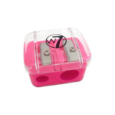 W7 Duo Pencil Sharpener - Lip Liner Eye Liner Blunt Sharp Draw Lines Flick Eyes