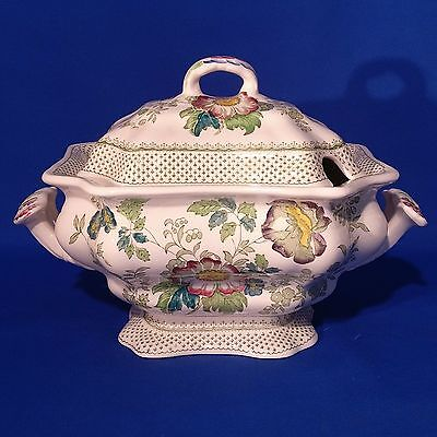 RARE Vintage 1950s MASONS PAYNSLEY - Large LIDDED SOUP TUREEN - Mint Condition
