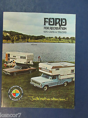 1970 Ford Recreation Cars & Trucks Full Line Sales Brochure C7347