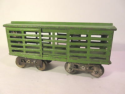 Lionel 13 Stock Car Early P Green Standard Gauge #x9699