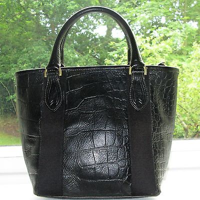 *reduced* Authentic Mulberry Black Reptile Leather Hellier Hand Bag