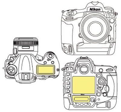Martin Fields Overlay Plus Screen Protector Nikon D4 - Includes Secondary LCD
